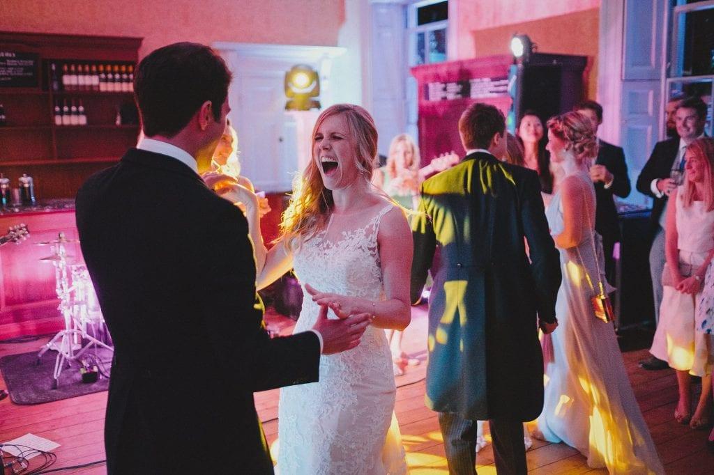 the bride enjoying her first dance