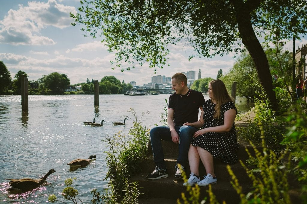 london engagement photographer strand on the green hj 009 1024x682 - London Engagement Photography