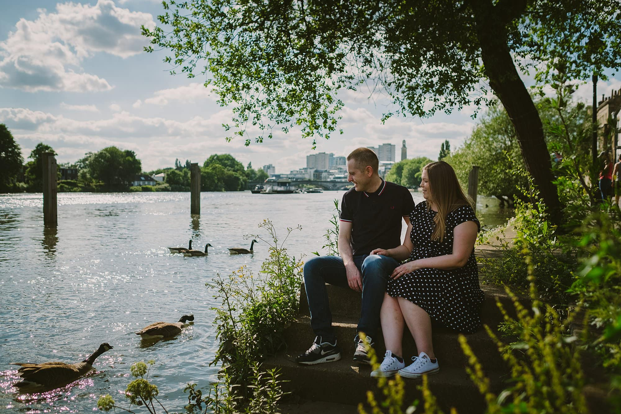 london engagement photographer strand on the green hj 009 - Hannah + Joe | Strand on the Green Engagement Photography