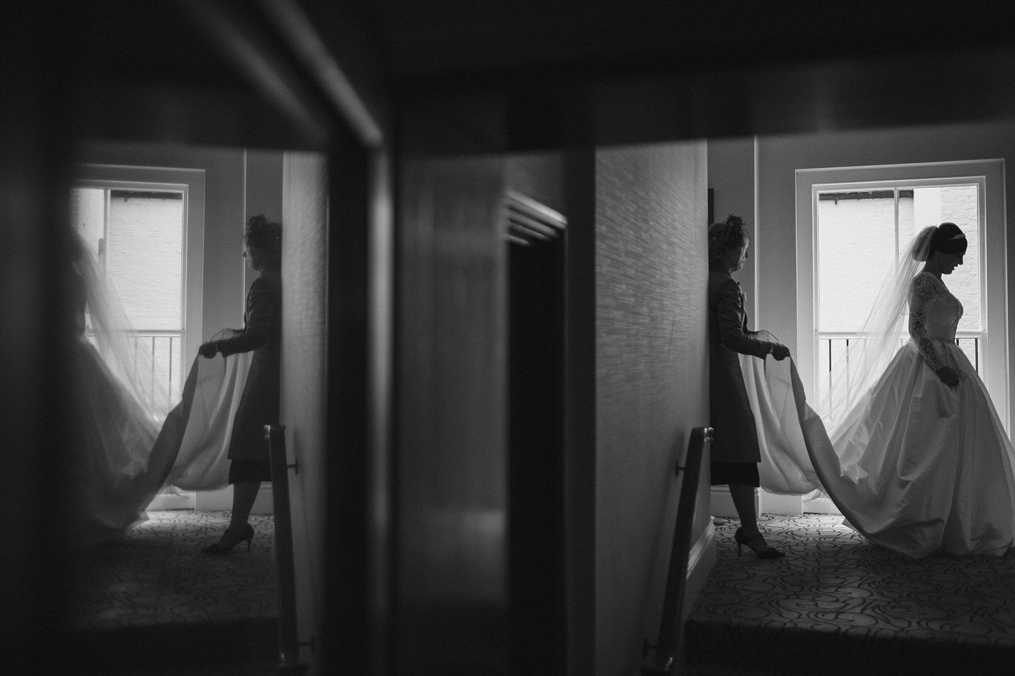 bride leaving the petersham hotel