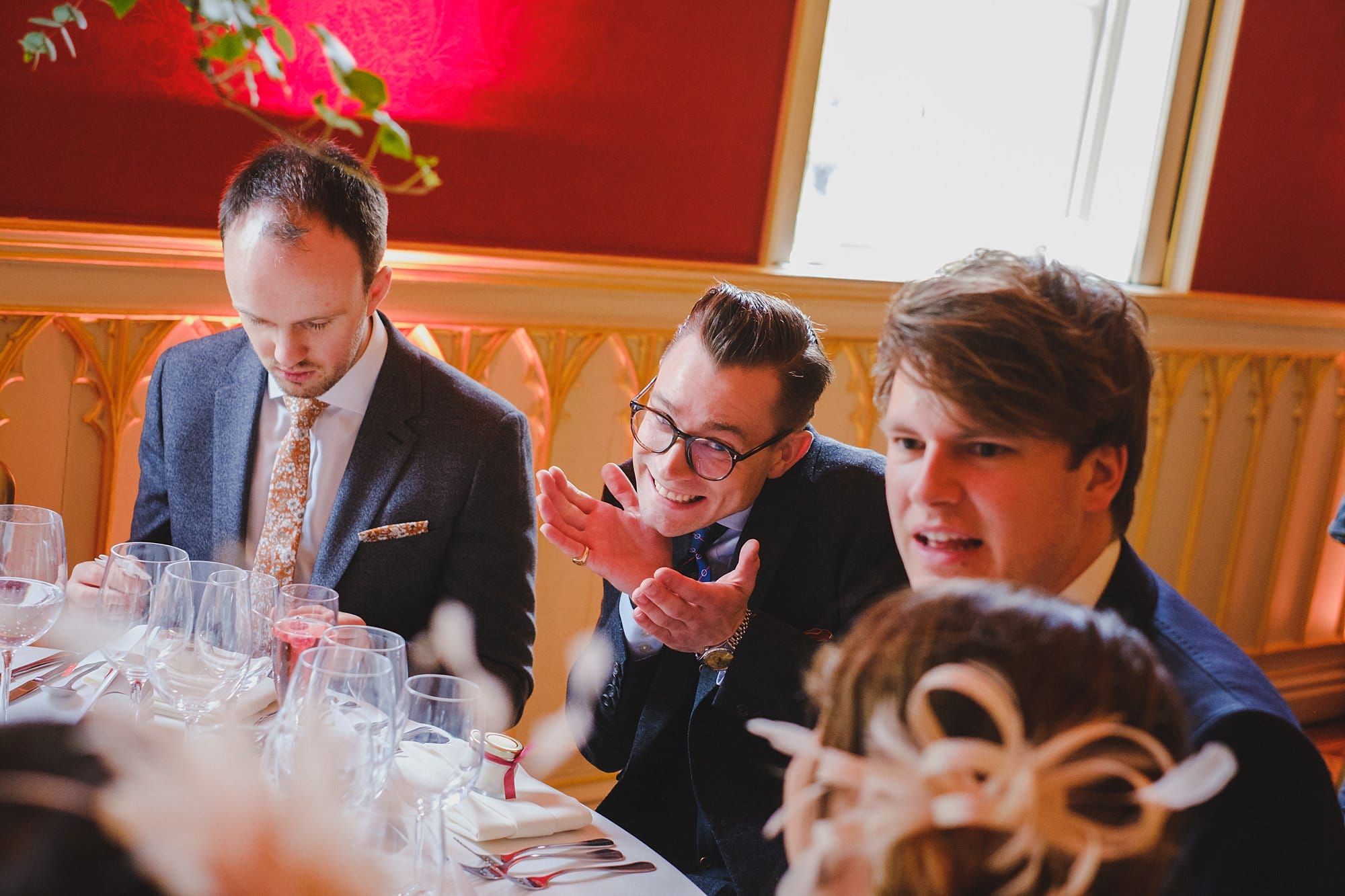 guests at a Strawberry Hill House wedding