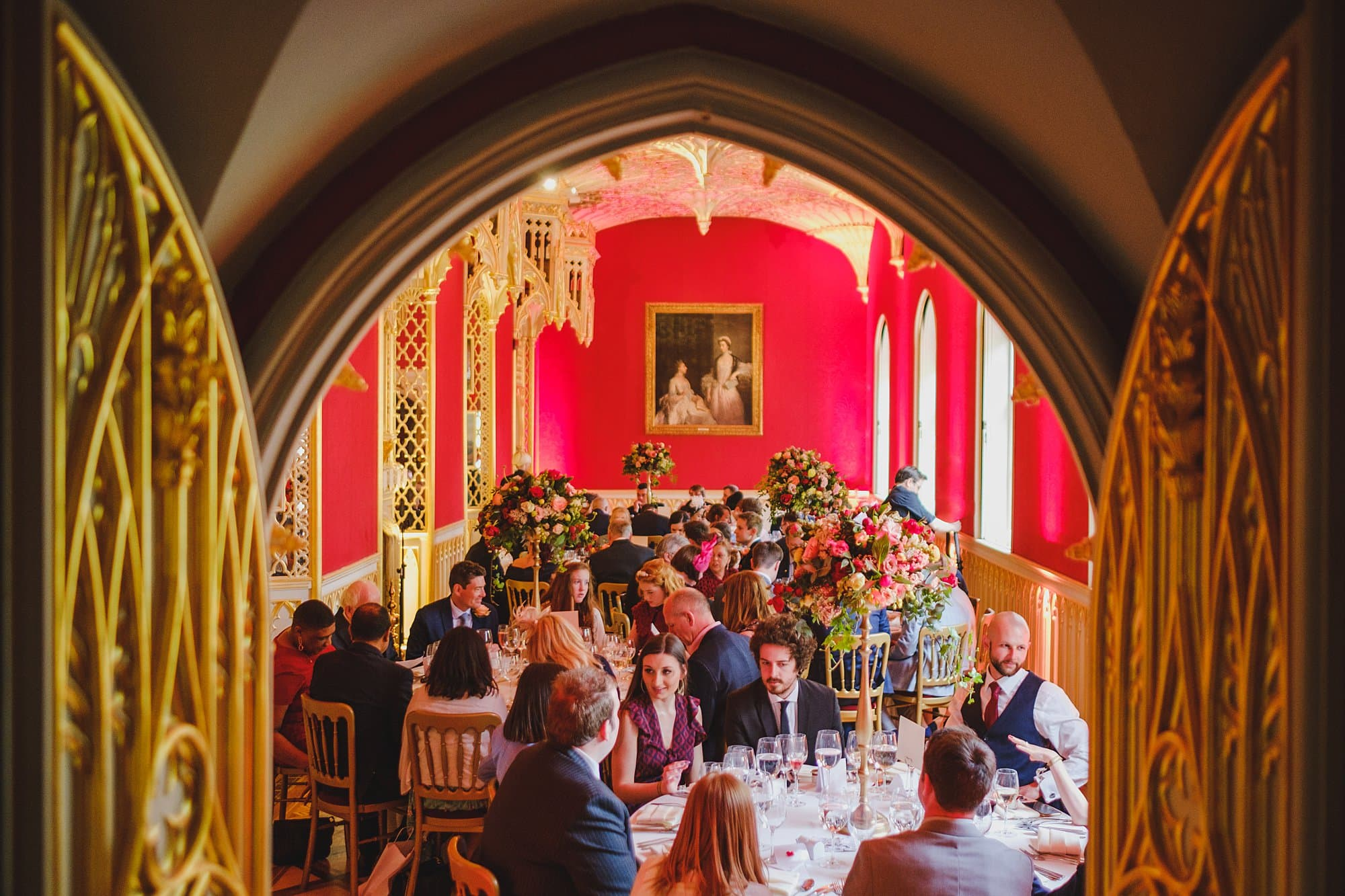 a wedding breakfast in the strawberry hill house gallery