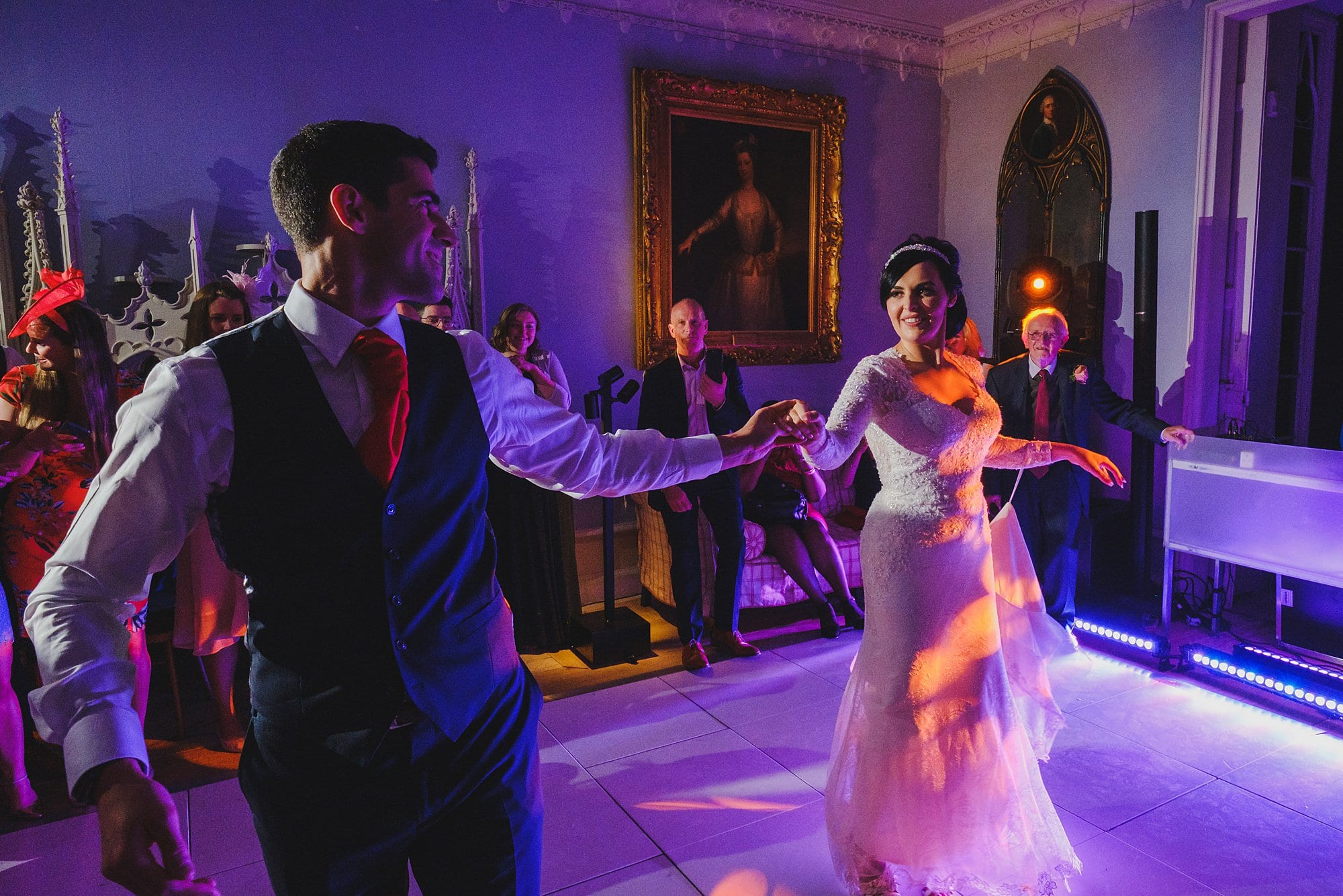 bride and groom's first dance at Strawberry Hill House