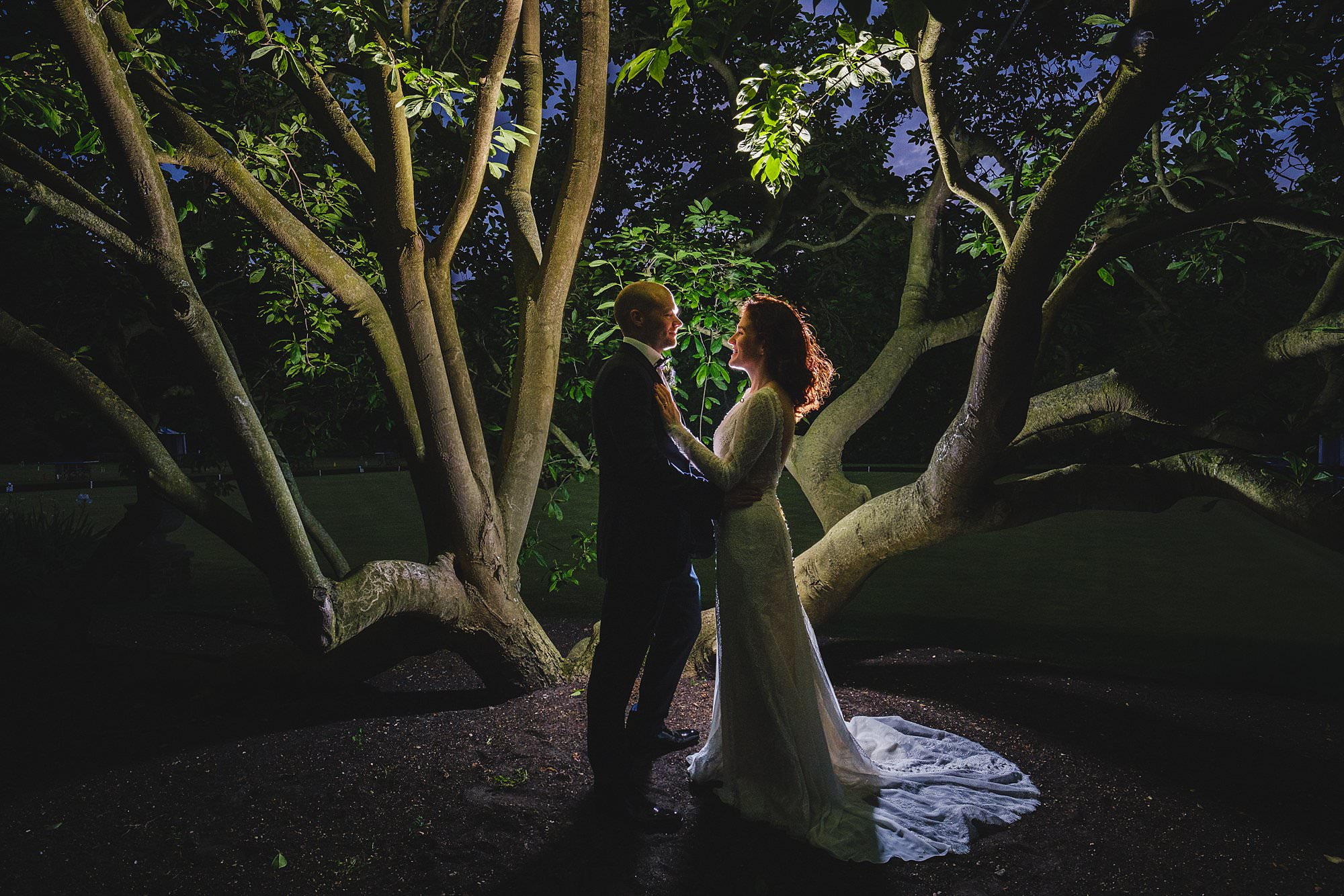 bride and groom portraits at a hurlingham club wedding