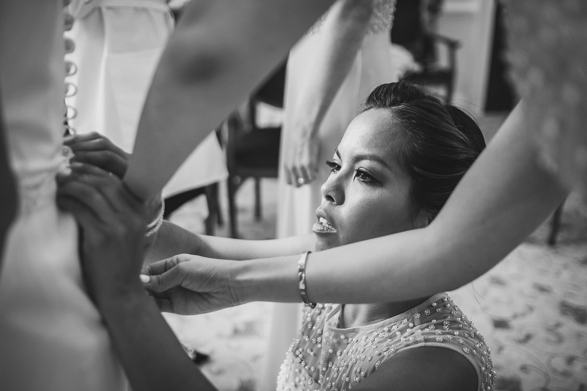 bridal prep at the cavalry and guards club london