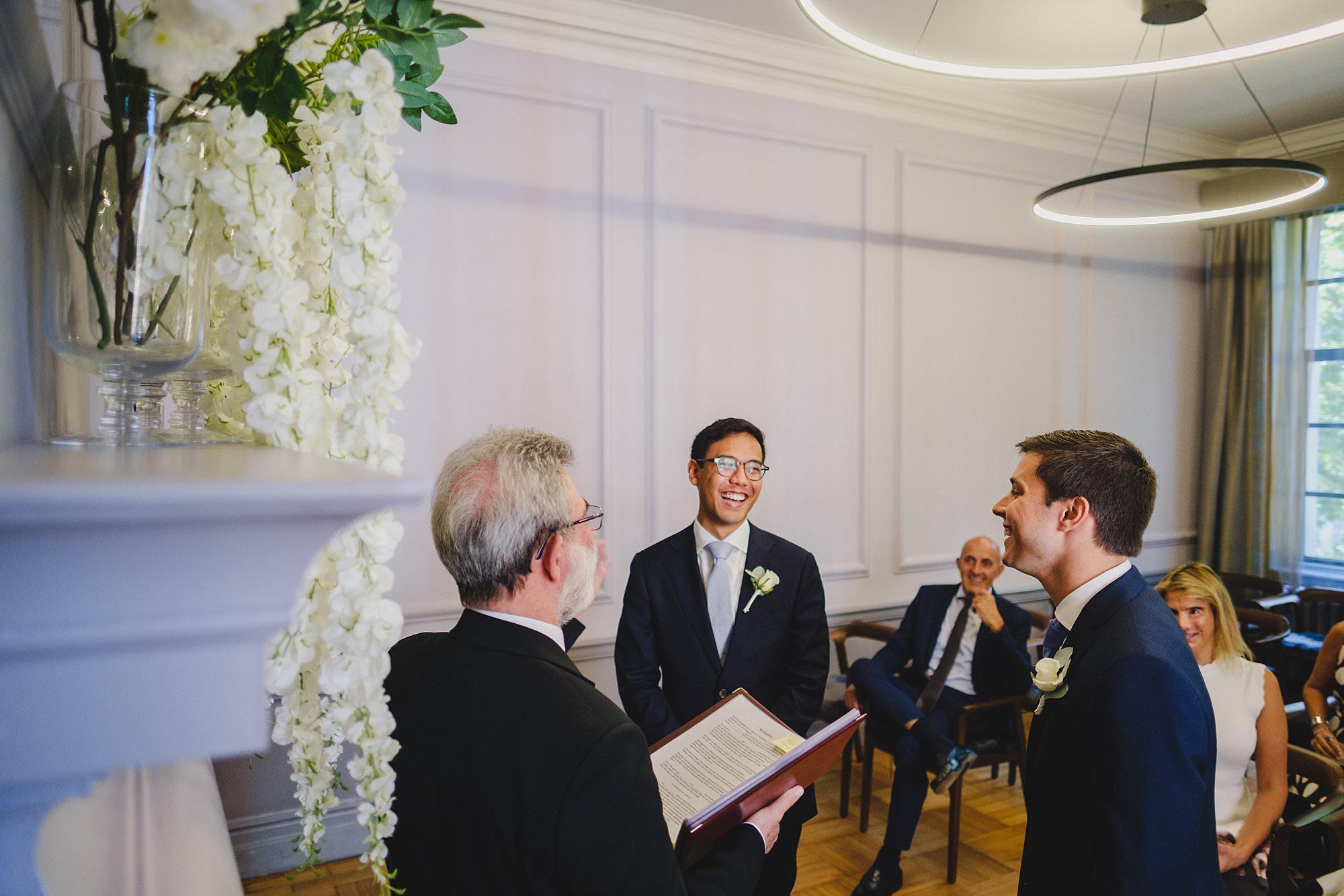 old marylebone town hall wedding photographer wedding jh 013 - Hugo + Josh   Marylebone