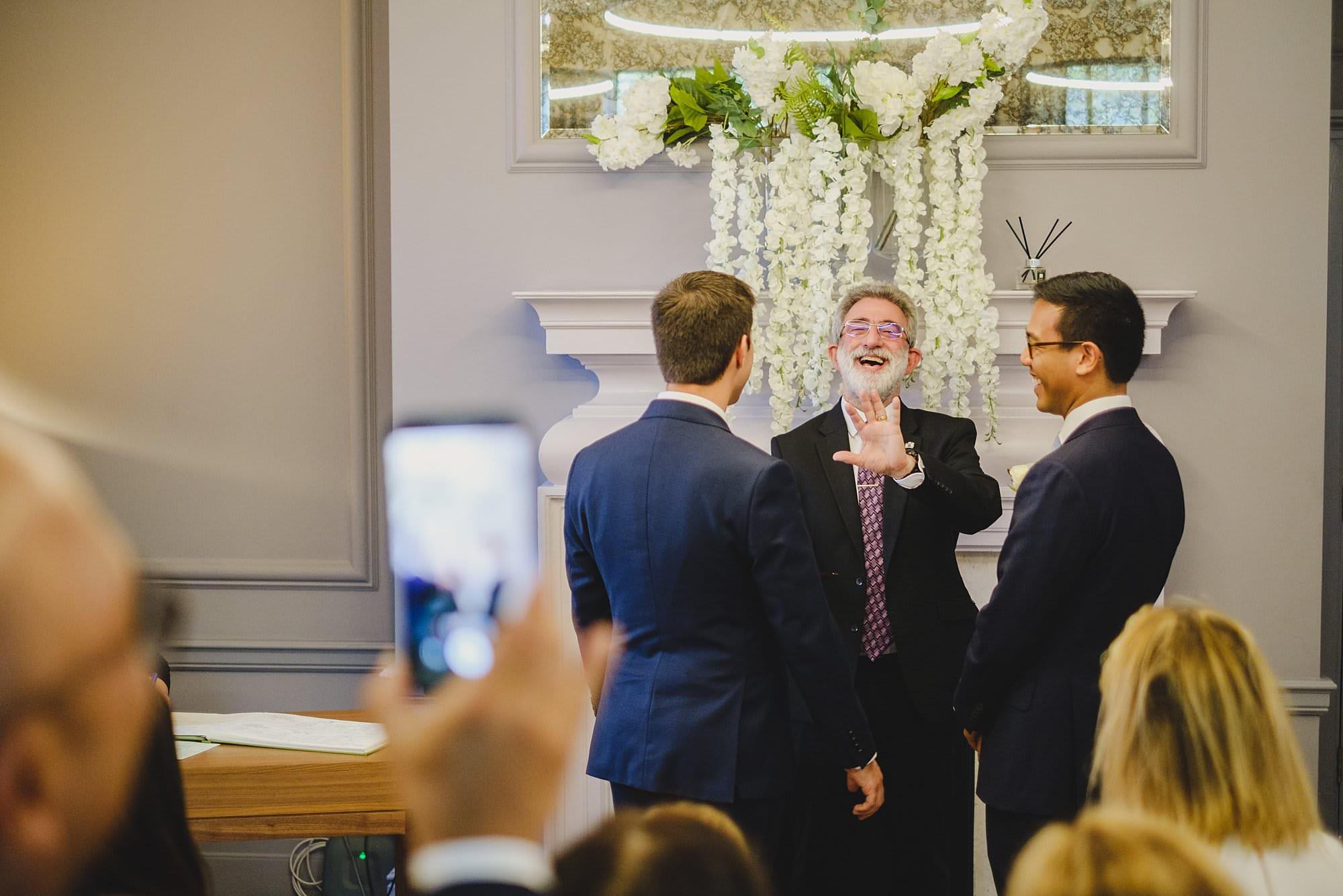 old marylebone town hall wedding photographer wedding jh 014 - Hugo + Josh   Marylebone
