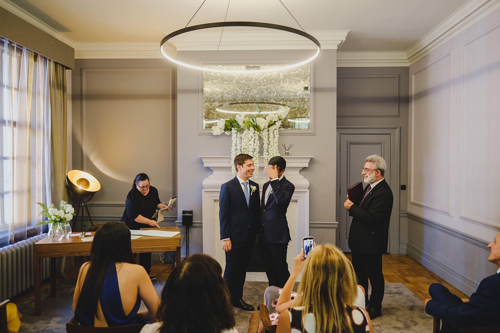 old marylebone town hall wedding photographer wedding jh 021 - Hugo + Josh   Marylebone