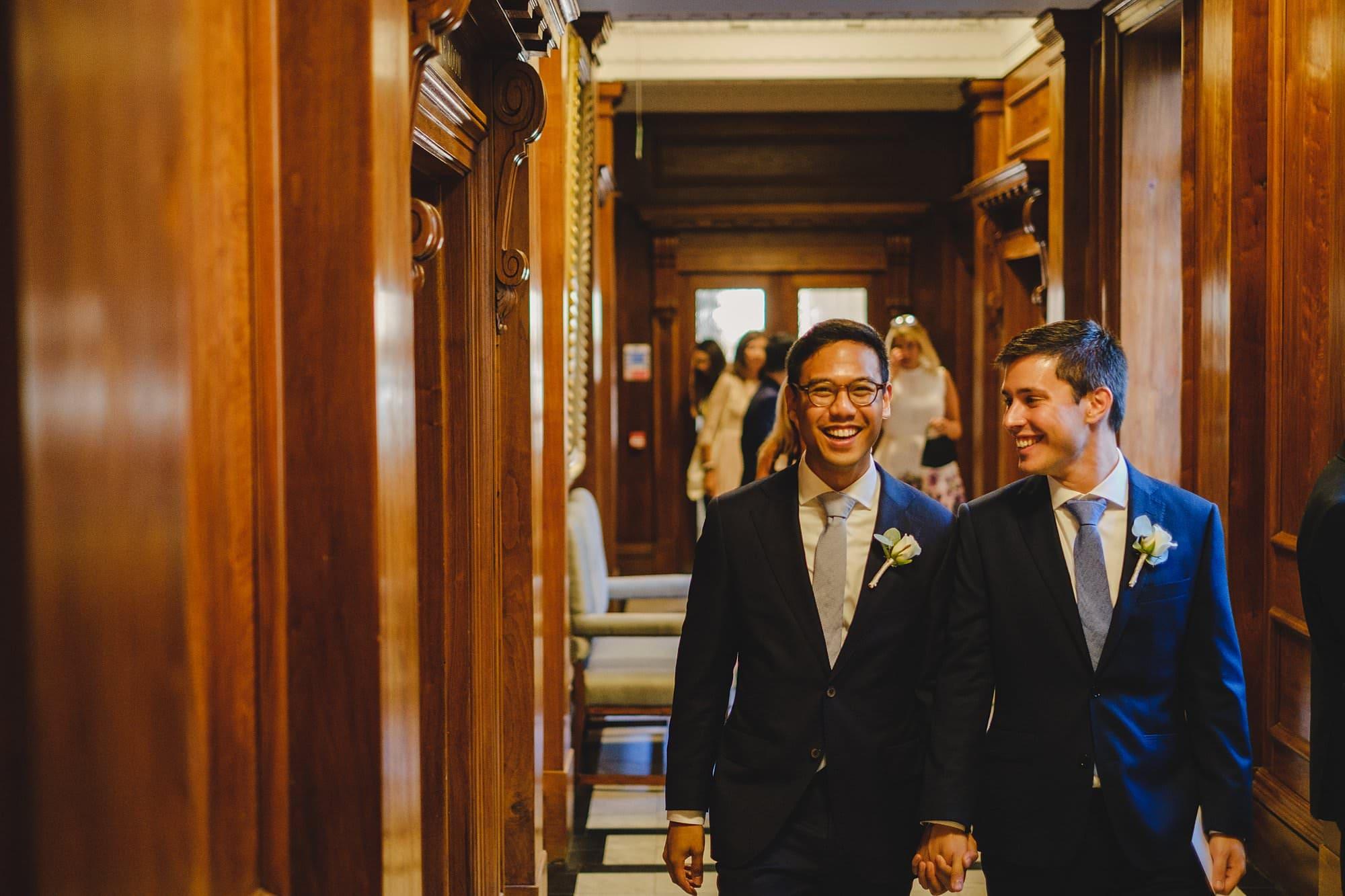 old marylebone town hall wedding photographer wedding jh 024 - Hugo + Josh   Marylebone