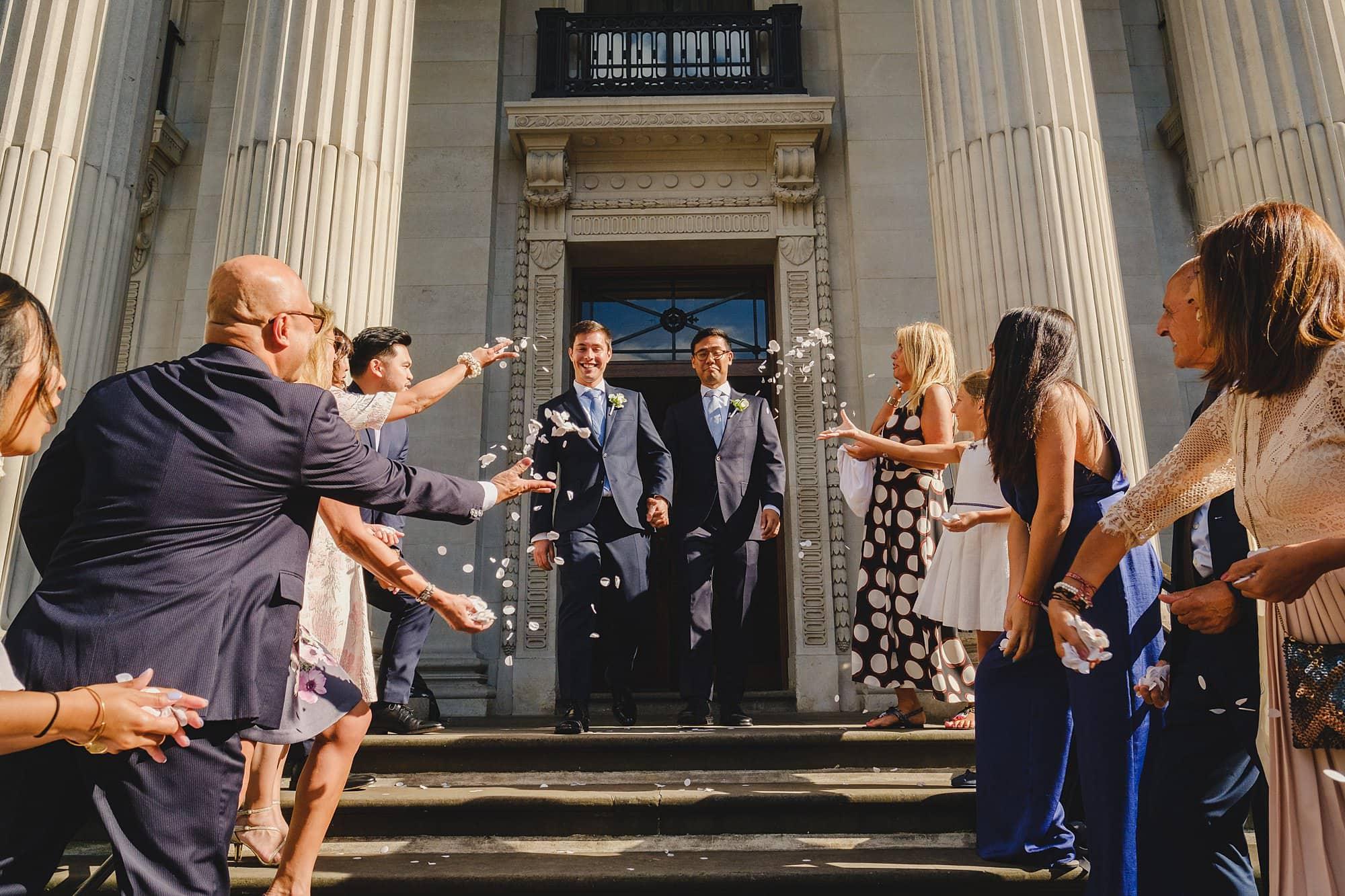 old marylebone town hall wedding photographer wedding jh 025 - Hugo + Josh   Marylebone