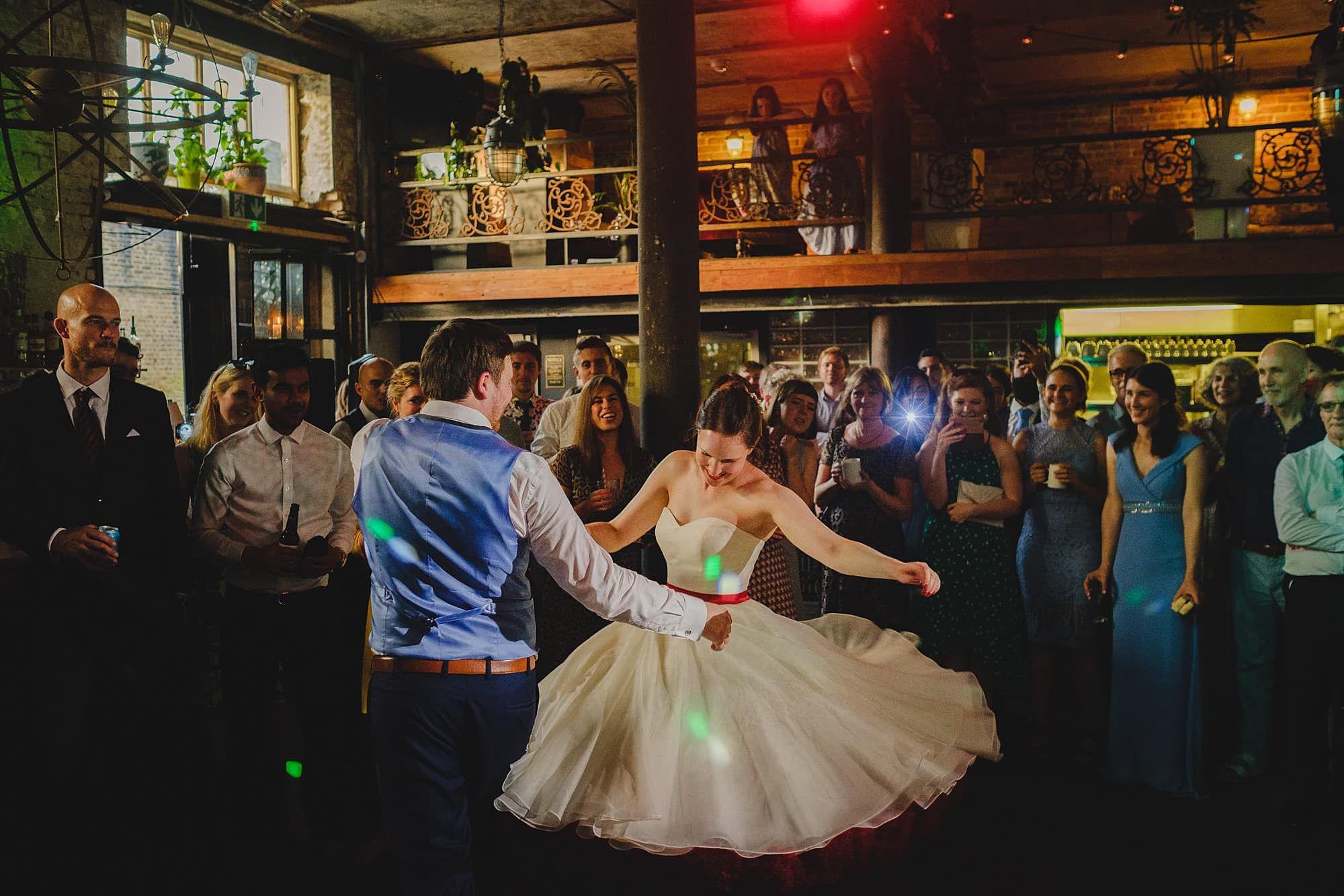 bride and groom's first dance at Clapton Country Club
