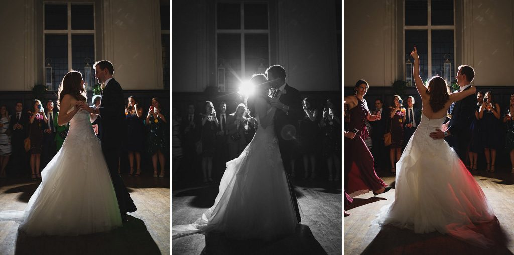 first dance at a fulham palace wedding in the great hall