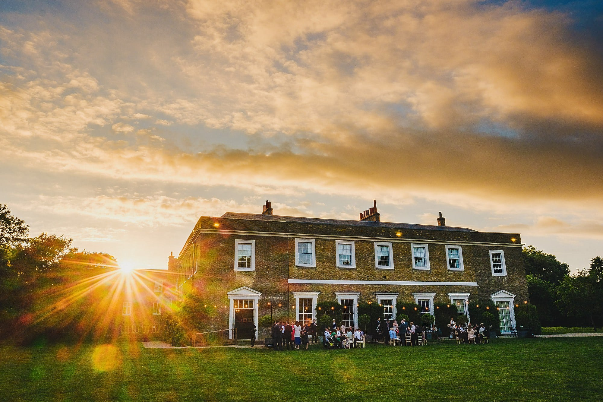 Fulham Palace during during sunset